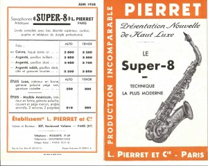 Pierret Saxophone Super 8 1838 2 RP